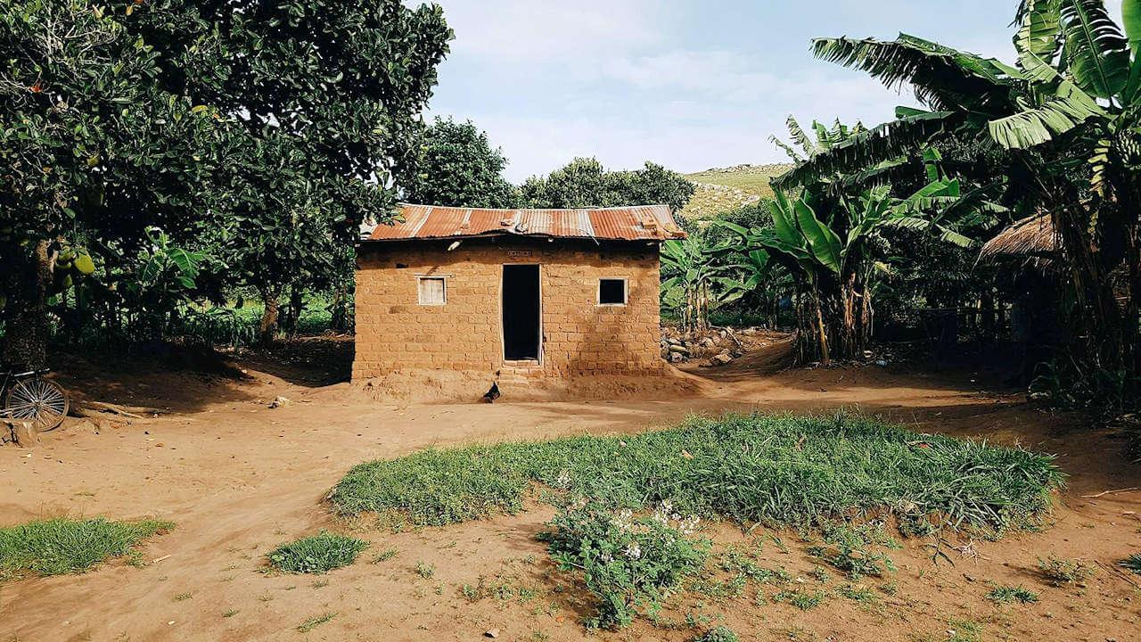 Hütte in Uganda