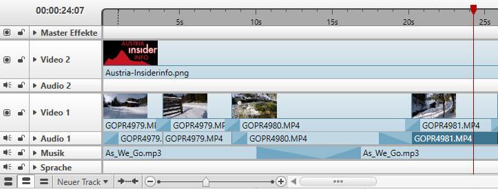 Nero Video Timeline