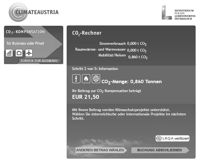 CO2 Kompensation Climate Austria