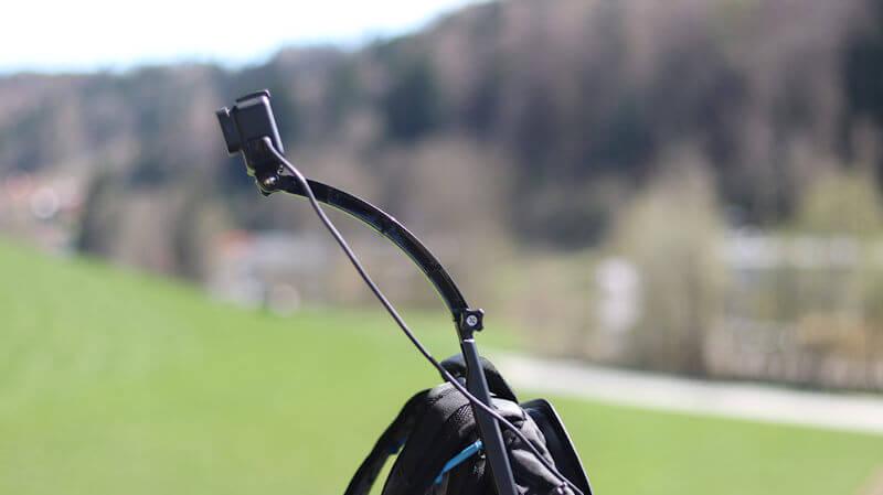 GoPro mit Helmverlängerung