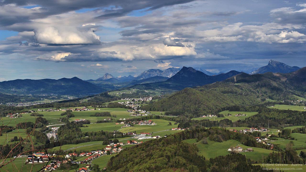 Nockstein - Blick ins Salzburger Land