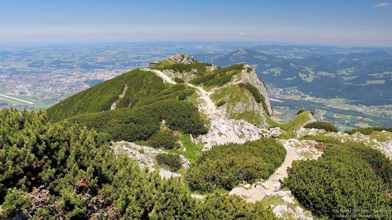 Blick zurück vom Salzburger Hochthron zum Geiereck