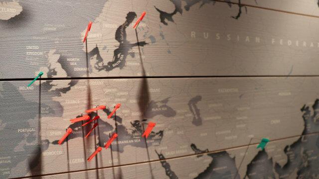 Coole Weltkarten für ReisendeWerbung