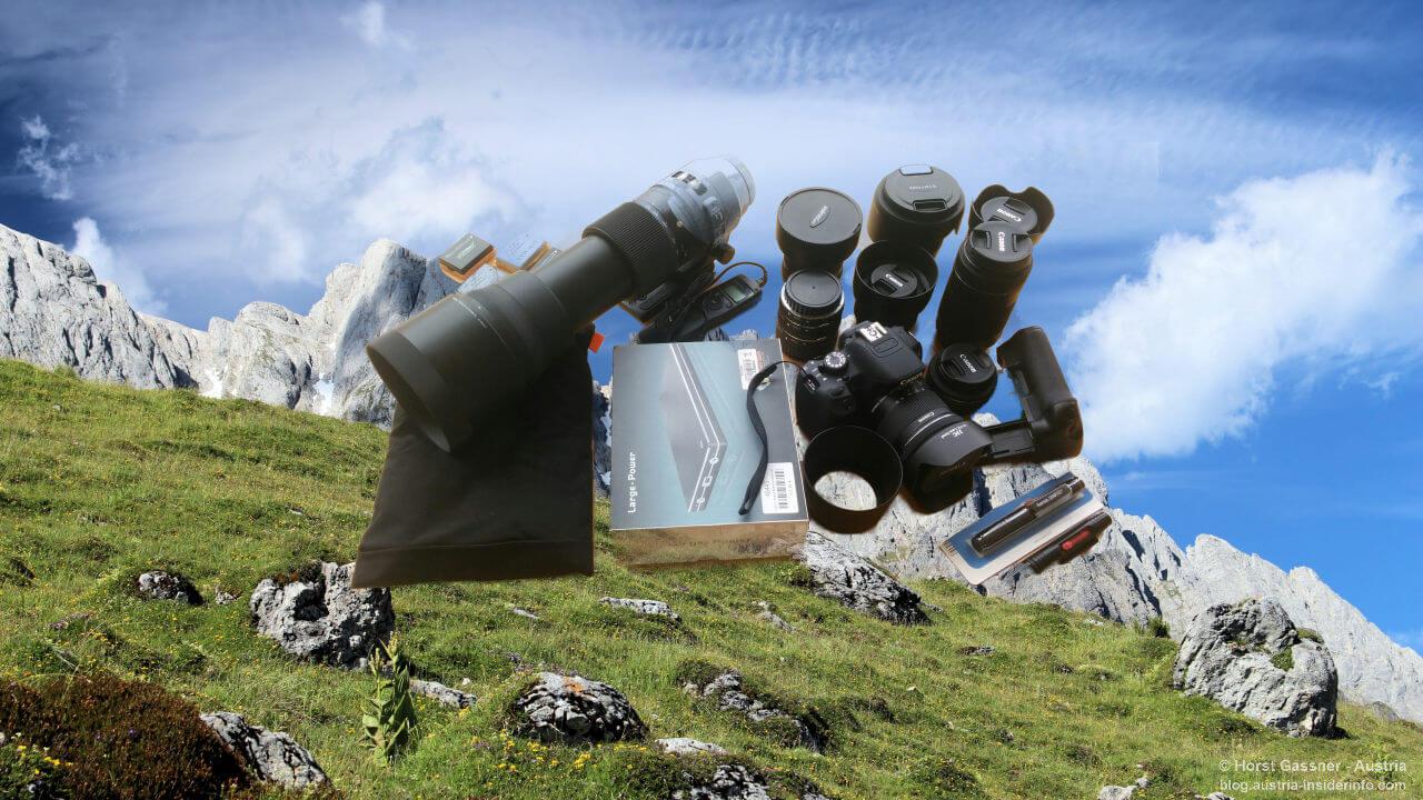 Weitwandern Packliste mit Mehrwert - Fotoausrüstung | Austria Insiderinfo