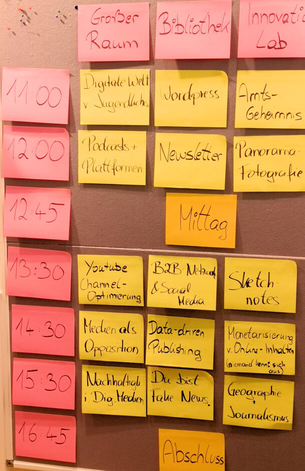 Die Sessions zum MedienCamp Vienna 2018