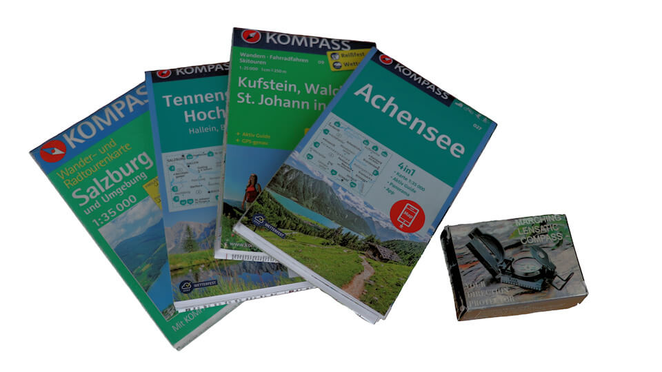 Packliste Wanderkarten