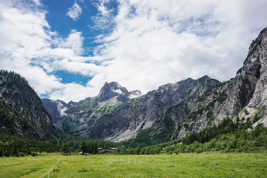 Adlerweg Etappe 8 - auf dem Weg zur Lamsenjochhütte