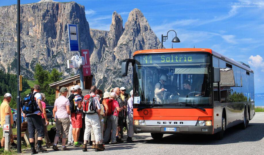 Öffis nutzen - Südtirol, Seiseralm