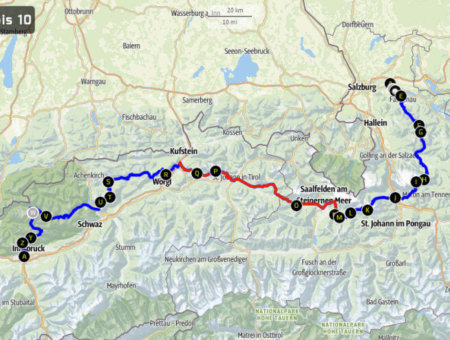 Weitwandern Salzburg – Innsbruck: Route Tag 6-10