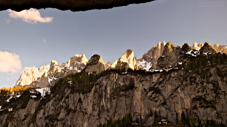 Sonnenuntergang am Vorderen Gosausee im Salzkammergut