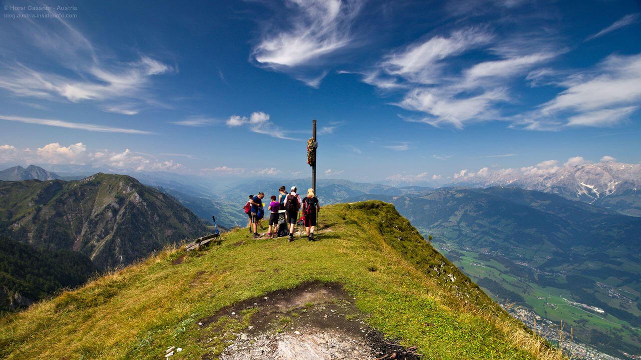 Heukareck in Großarl am Gipfel