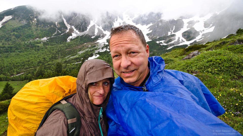 Horst & Christine am Hochkönig im Regen stehen gelassen