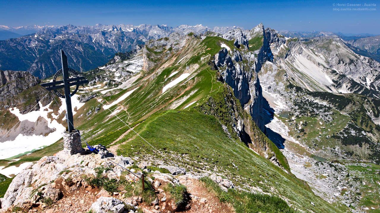 Am Gipfel der Rofanspitze im Tiroler Rofangebirge