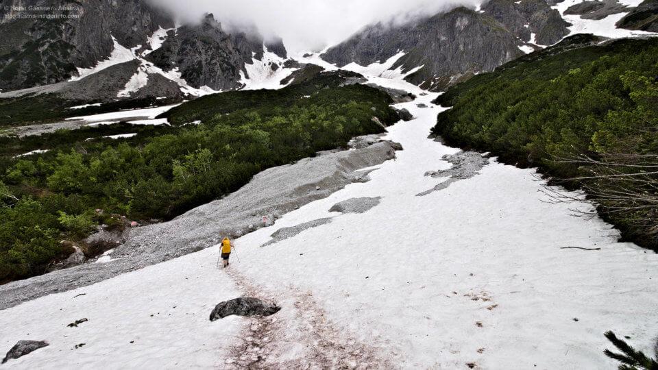 Schneefeld am Hochkönig am Weg von der Kopphütte zur Erichhütte