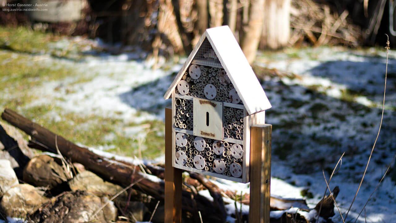 Nisthilfe - den Wildbienen zuliebe (Insektenhotel)