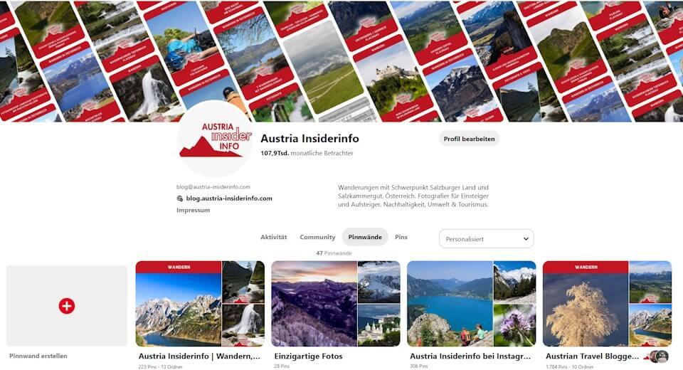 Die Austria Insiderinfo bei Pinterest