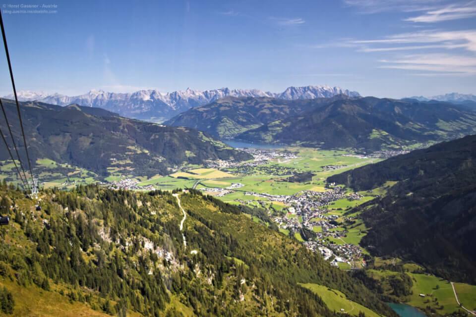 Kitzsteinhorn - Top of Salzburg - Blick aus der Gondel nach Zell am See