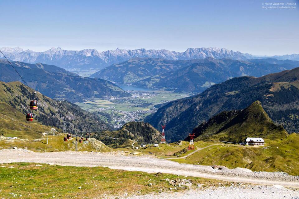 Kitzsteinhorn: Gletscherjet 2 mit Blick in das Zeller Becken