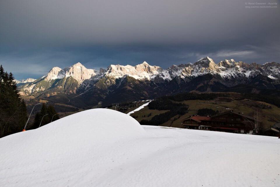 Salzburger Bergwanderführer Winterkurs - geniale Morgenstimmung am Aberg