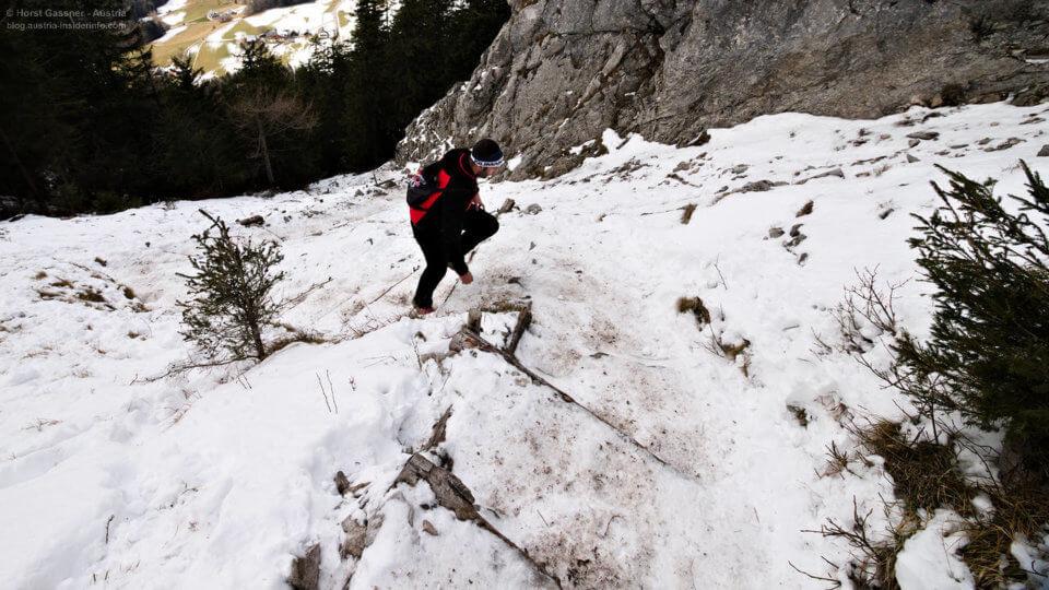 Winterwanderungen - die Wege sind im Winter völlig anders zu gehen