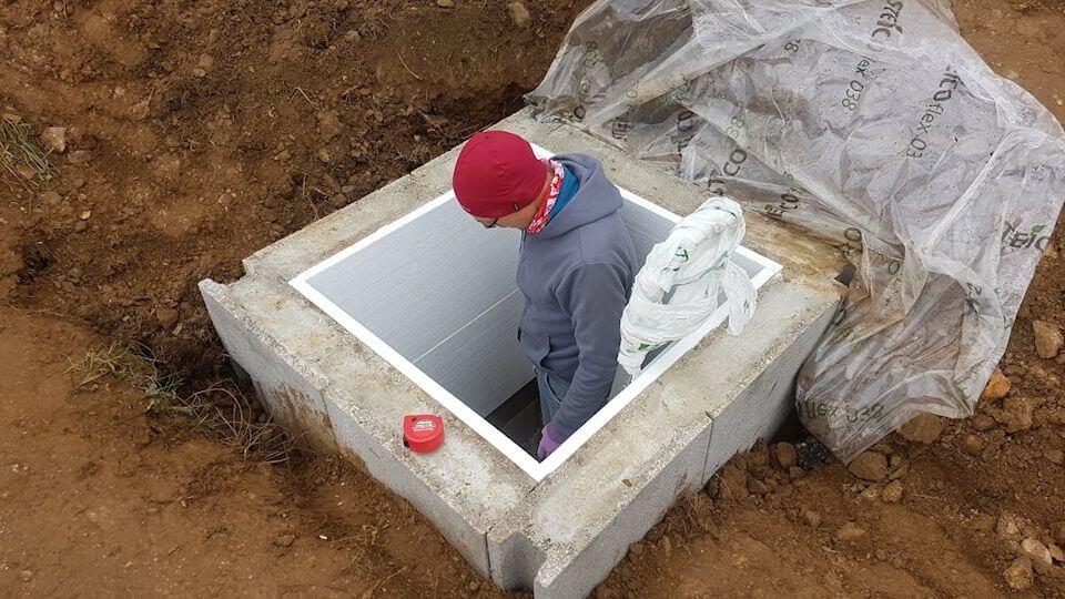 Der Schacht ist fertig - inklusive Dämmung
