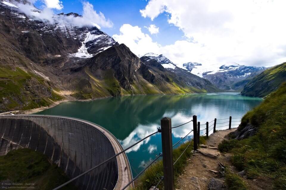 Hochgebirgsstausee Kaprun - Wandern ohne Auto im Salzburger Land - Wasserkraft