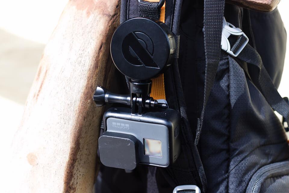 REELOQ und eine GoPro Hero Actionkamera