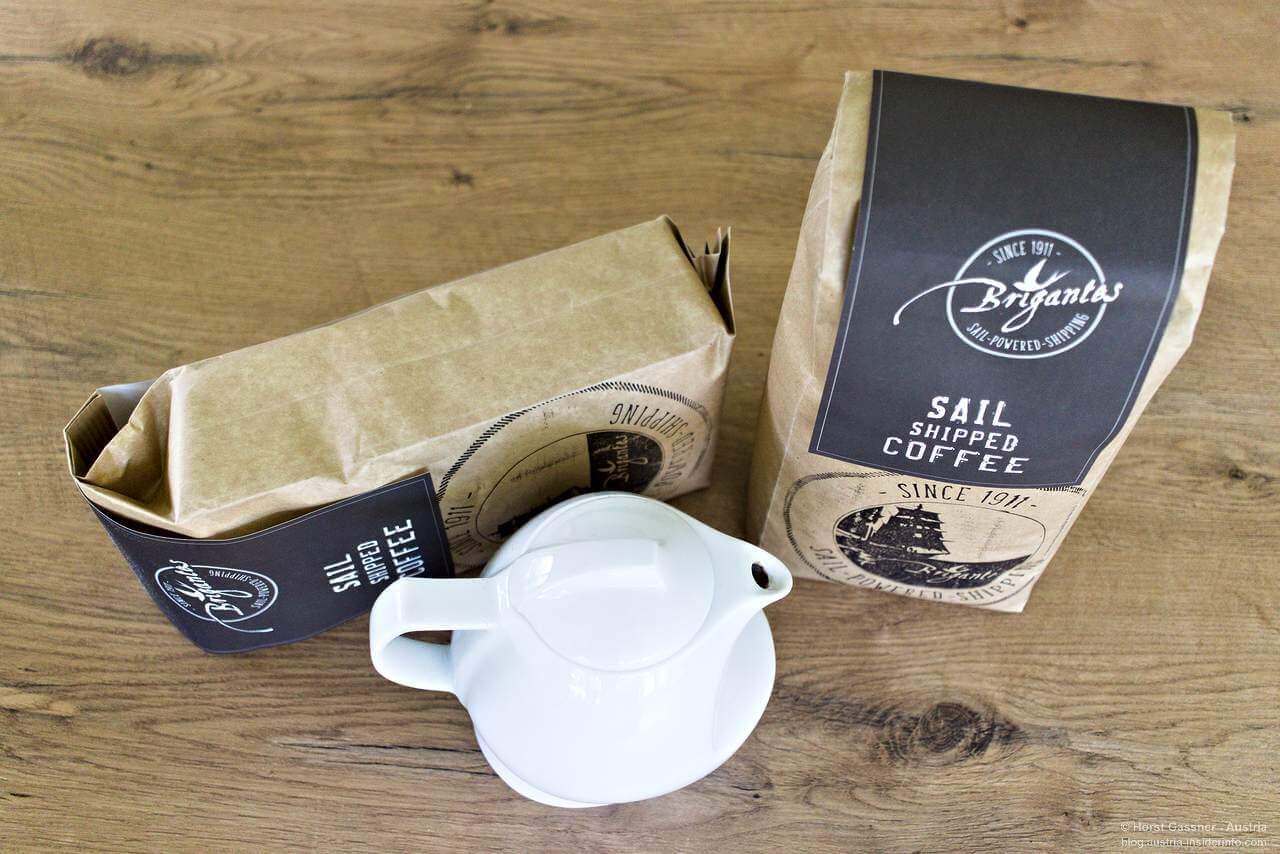 Gesegelter Kaffee mit Genuss ohne Kaffeekapseln im Empot